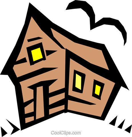 Haunted house Royalty Free Vector Clip Art illustration even0342