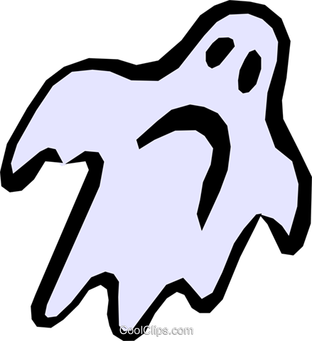 Ghost Royalty Free Vector Clip Art illustration even0345