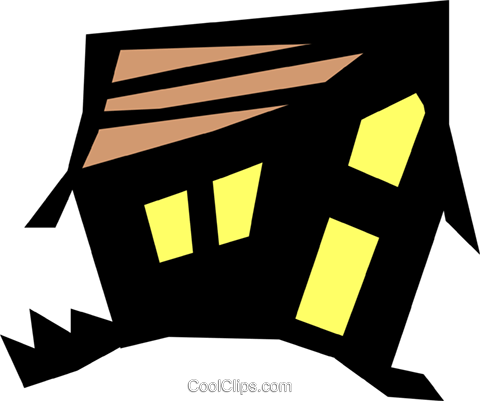 Haunted house Royalty Free Vector Clip Art illustration even0348