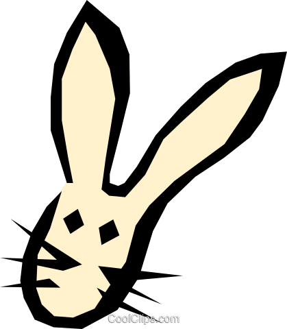 Bunny Royalty Free Vector Clip Art illustration even0351