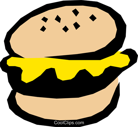 Hamburger Royalty Free Vector Clip Art illustration food0514