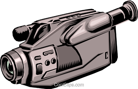 Video camera Royalty Free Vector Clip Art illustration hous0202