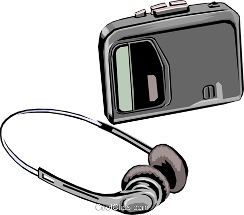 Personal portable audio Royalty Free Vector Clip Art illustration hous0206