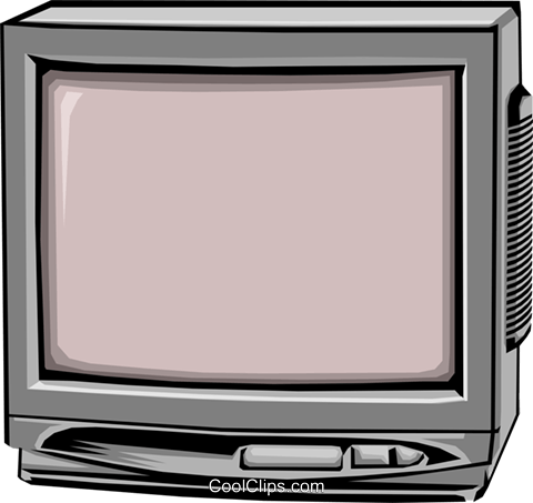Television monitor Royalty Free Vector Clip Art illustration hous0493