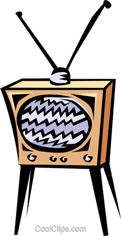 TV's Royalty Free Vector Clip Art illustration hous0495