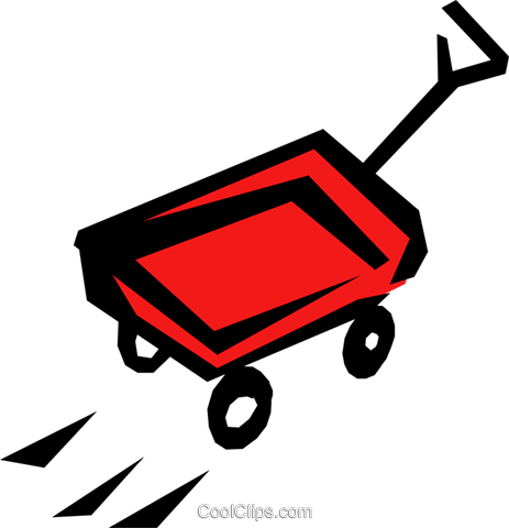 Wagon Royalty Free Vector Clip Art illustration hous0634