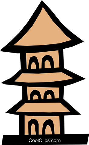 Pagoda Royalty Free Vector Clip Art illustration arch0290