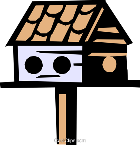 Birdhouses Royalty Free Vector Clip Art illustration arch0291