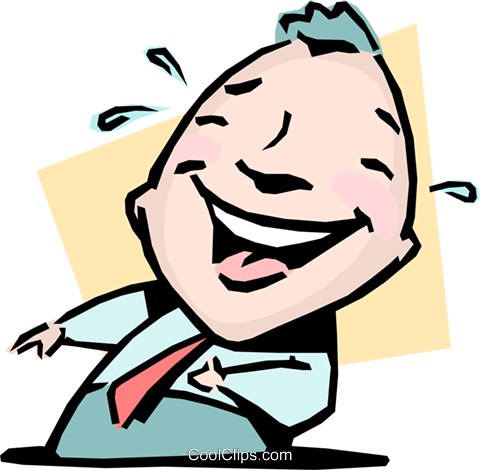 The last laugh Royalty Free Vector Clip Art illustration cart0989