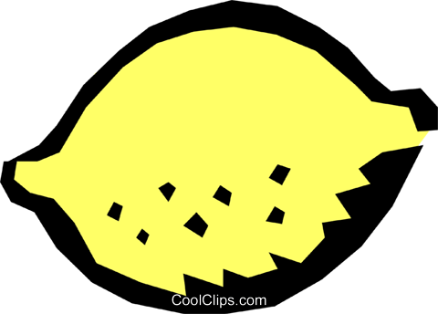 Lemon Royalty Free Vector Clip Art illustration food0521