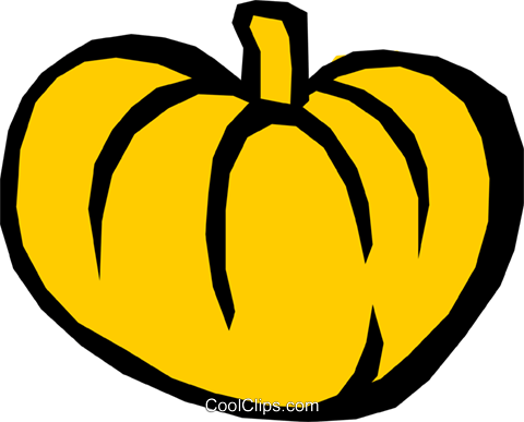 Pumpkin Royalty Free Vector Clip Art illustration food0524