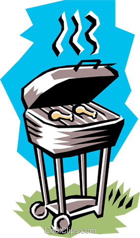 Barbecue Royalty Free Vector Clip Art illustration hous0498