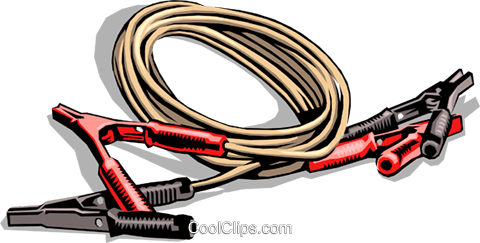 Booster cables Royalty Free Vector Clip Art illustration indu0316