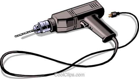 Electric drill Royalty Free Vector Clip Art illustration indu0321