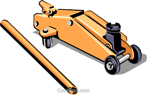 Car Jack Royalty Free Vector Clip Art illustration indu0325