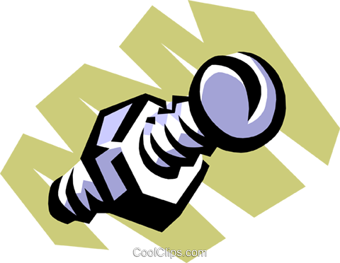 Nut & bolt Royalty Free Vector Clip Art illustration indu0487