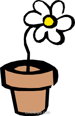 Daisy Royalty Free Vector Clip Art illustration natu0385