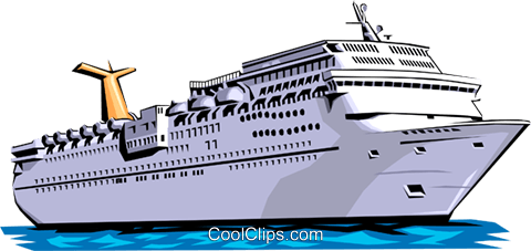 Cruise ship Royalty Free Vector Clip Art illustration tran0013