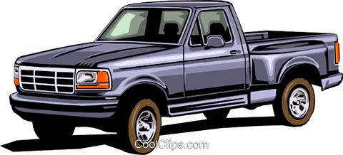 Pickup truck Royalty Free Vector Clip Art illustration tran0016