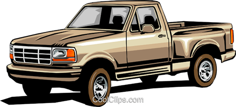 Pickup truck Royalty Free Vector Clip Art illustration tran0017