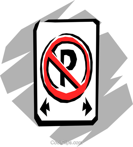 No-parking Royalty Free Vector Clip Art illustration tran0206