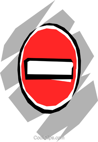 No-entry sign Royalty Free Vector Clip Art illustration tran0207
