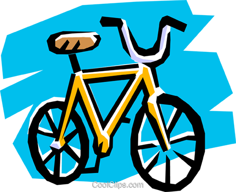 Bicycle Royalty Free Vector Clip Art illustration tran0235