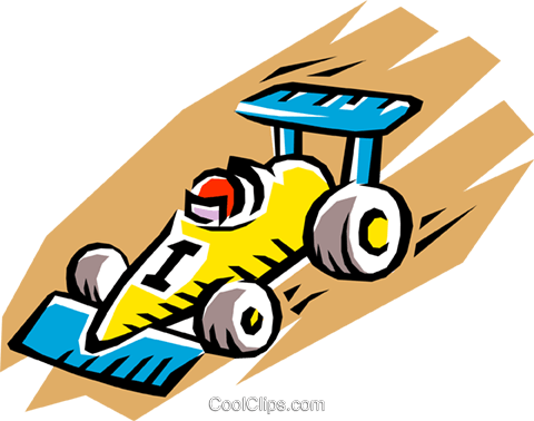 Racing car Royalty Free Vector Clip Art illustration tran0236
