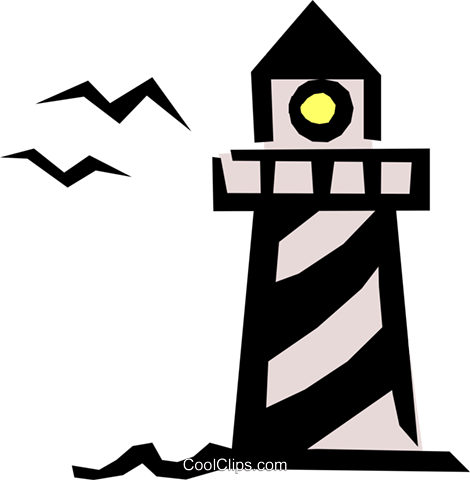 Lighthouse Royalty Free Vector Clip Art illustration tran0399