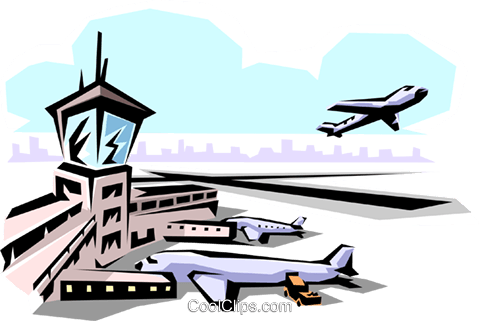 Airport Royalty Free Vector Clip Art illustration arch0002