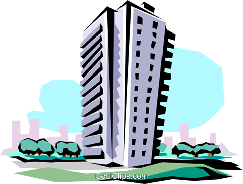 Apartment building Royalty Free Vector Clip Art illustration arch0003