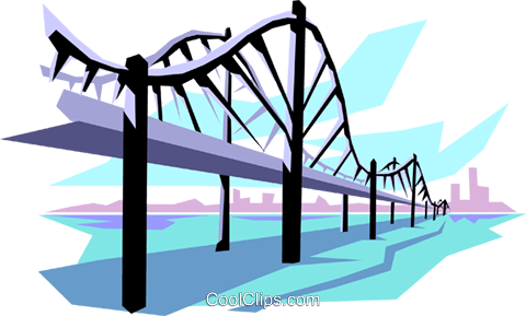 Bridge Royalty Free Vector Clip Art illustration arch0005
