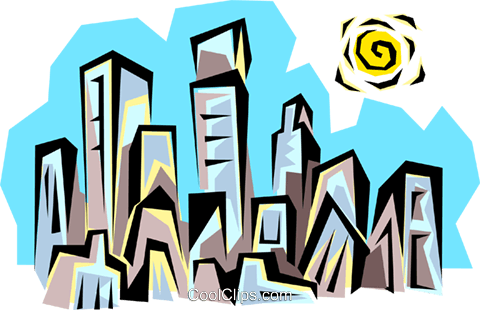 City skyline Royalty Free Vector Clip Art illustration arch0015