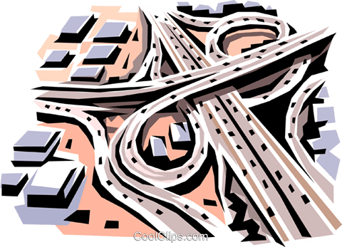 Highway Royalty Free Vector Clip Art illustration arch0017