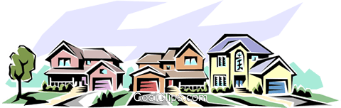 Houses Royalty Free Vector Clip Art illustration arch0028