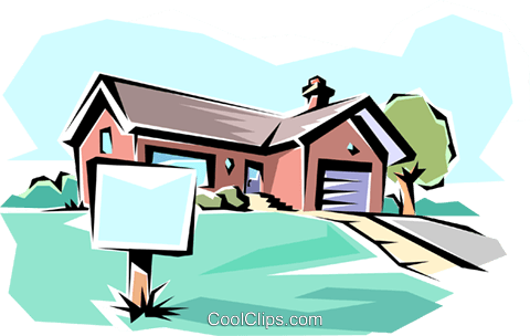 House for sale Royalty Free Vector Clip Art illustration arch0029