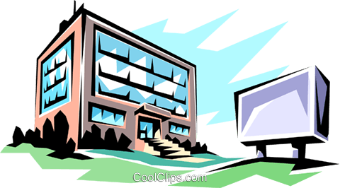 office building royalty free vector clip art illustration arch0034 rh search coolclips com tall office building clipart office building clip art free