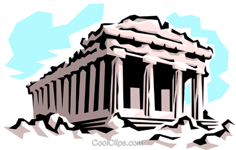 Parthenon Royalty Free Vector Clip Art illustration arch0035