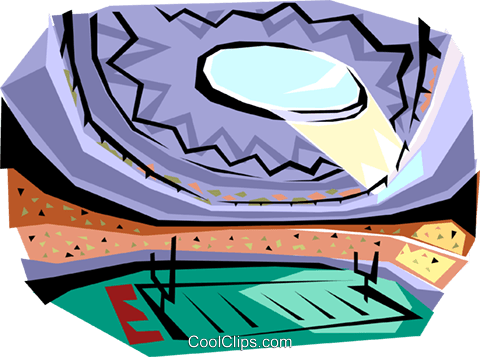 Football stadium Royalty Free Vector Clip Art illustration arch0039