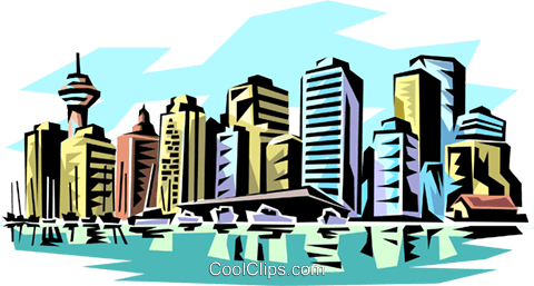 City skylines Royalty Free Vector Clip Art illustration arch0047
