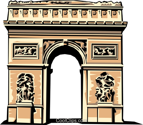 Arc de Triomphe Royalty Free Vector Clip Art illustration arch0139