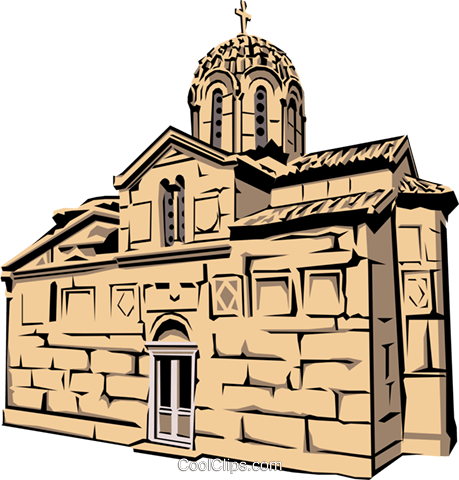 Greek Church Royalty Free Vector Clip Art illustration arch0141