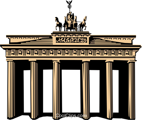Brandenburg Gate Royalty Free Vector Clip Art illustration arch0142