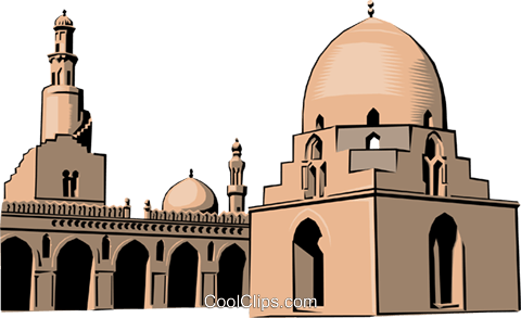 Muslim Mosque Royalty Free Vector Clip Art illustration arch0143