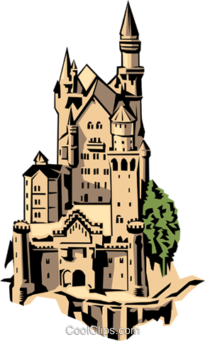 Castle Royalty Free Vector Clip Art illustration arch0144