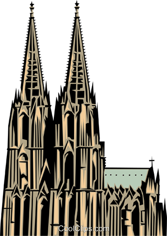 Cologne Church Royalty Free Vector Clip Art illustration arch0145