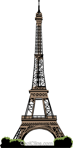 Eiffel Tower Royalty Free Vector Clip Art illustration arch0148