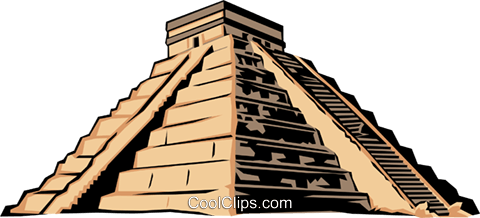 Mayan pyramid Royalty Free Vector Clip Art illustration arch0153