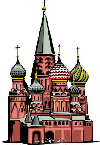 St. Basil's Church Royalty Free Vector Clip Art illustration arch0154