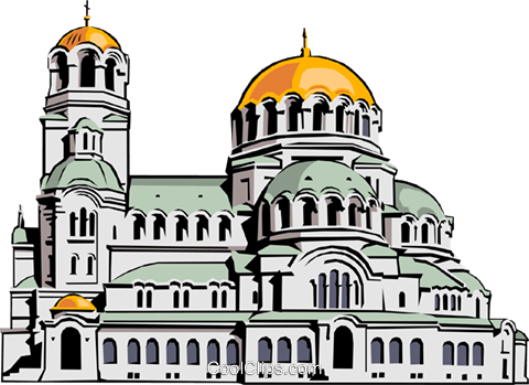 Alexander Nevski Church Royalty Free Vector Clip Art illustration arch0155